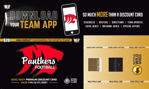 Masuk Panthers Football Premium Discount Card 2020