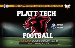 Platt Tech Panthers Football Premium Discount Card 2020