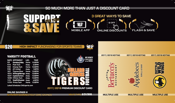 Bullard Havens Tigers Football Premium Discount Card