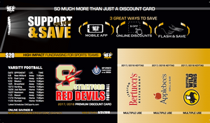 Stratford Red Devils Football Premium Discount Card