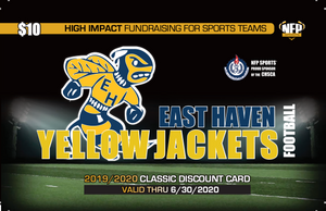 East Haven Yellow Jackets Football Classic Discount Card