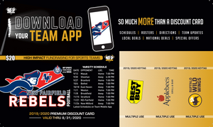 New Fairfield Rebels Football Premium Discount Card