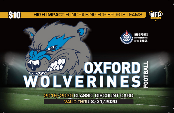 Oxford Wolverines Football Classic Discount Card