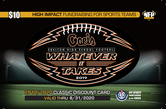 Shelton Gaels Football Classic Discount Card