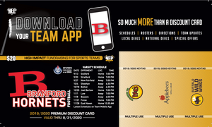 Branford Hornets Football Premium Discount Card 2019