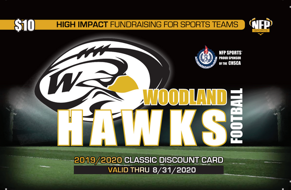 Woodland Hawks Football Classic Discount Card