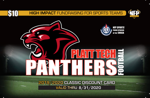 Platt Tech Panthers Football Classic Discount Card