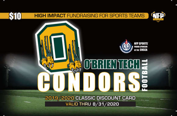 O'Brien Tech Condors Football Classic Discount Card