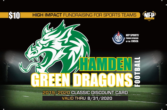 Hamden Green Dragons Football Classic Discount Card
