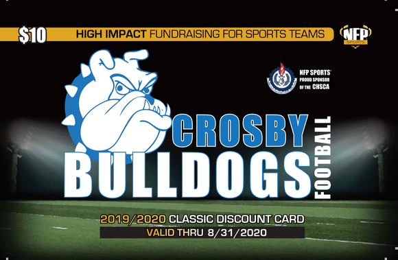 Crosby Bulldogs Football Classic Discount Card