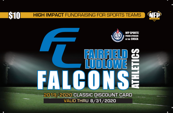 Fairfield Ludlowe Falcons Football Classic Discount Card