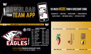 Wolcott Eagles Soccer Premium Discount Card 2019