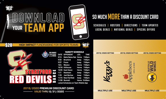 Stratford Red Devils Dance Premium Discount Card