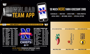 Nonnewaug Chiefs Girls' Soccer Premium Discount Card 2019