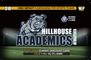 Hillhouse Academics Football Classic Discount Card