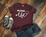 """Nurse Life"" T-shirt In Stock"