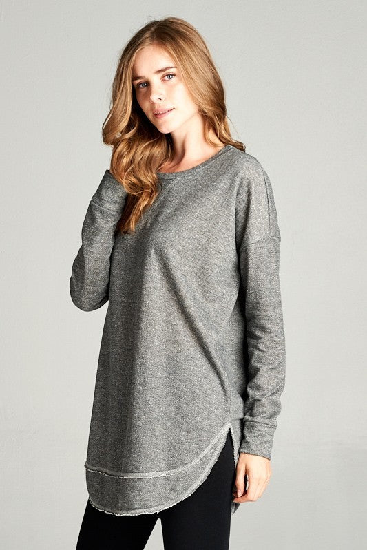 Two Tone Tunic Sweatshirt