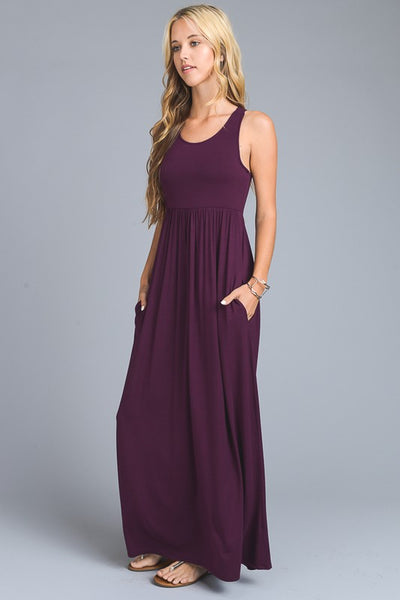 Sleeveless Racerback Maxi with Pockets