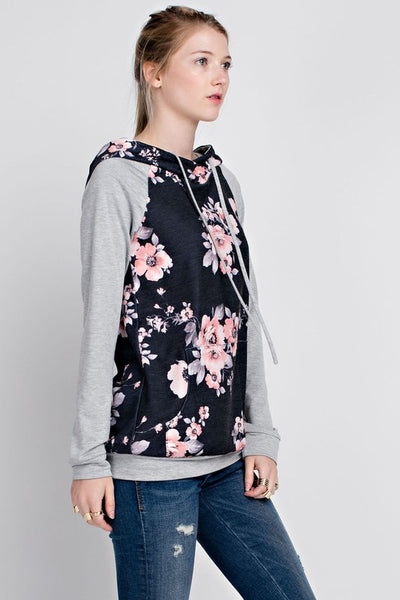 Luna Floral Hoodie - Only 1 Small Left