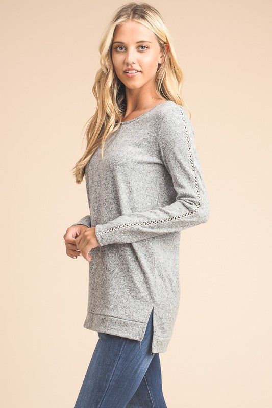 Long Sleeve Sweater Tunic - Only 1 Medium Left