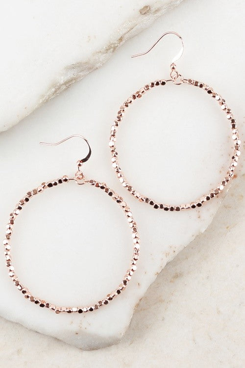 Bead Round Hook Earring