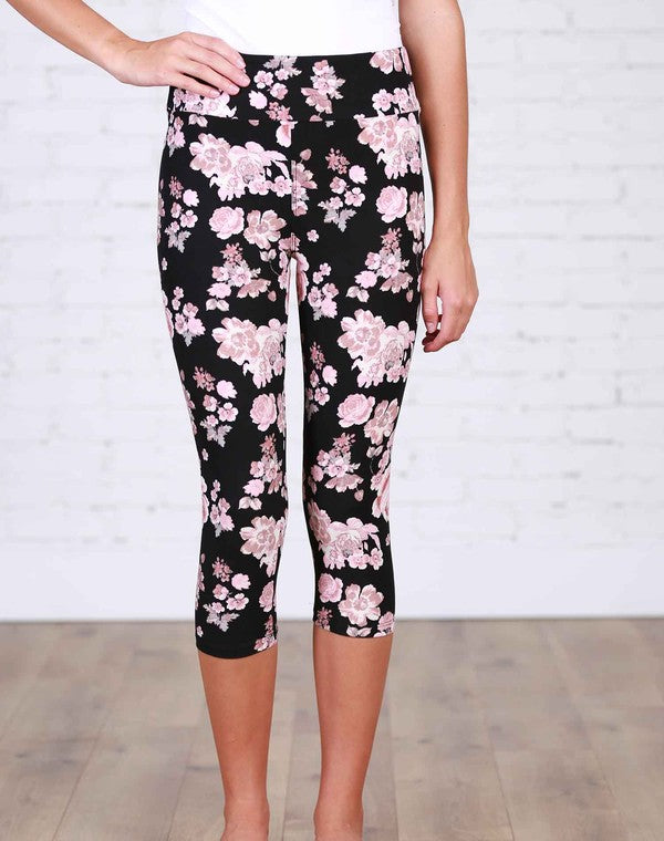 Bliss Floral Capri Leggings
