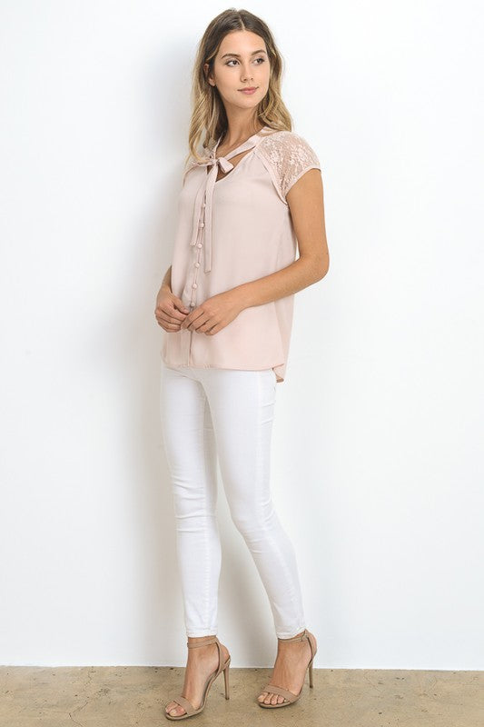 Short Sleeve Button Down Top