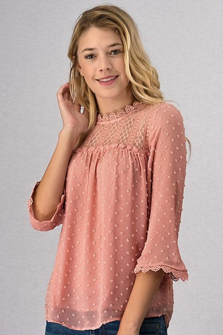 Pretty in Pink Textured Top