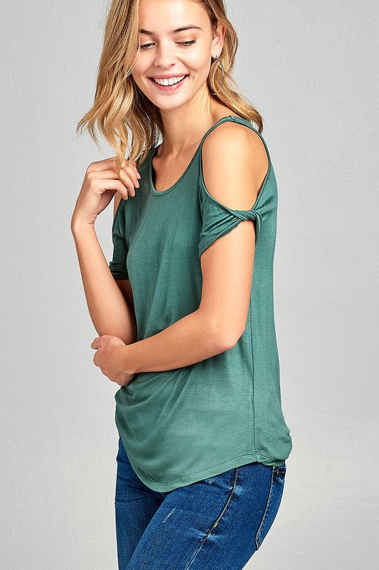 Open Shoulder Top with a Twist