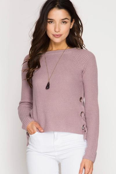 Side Tie Detailed Sweater