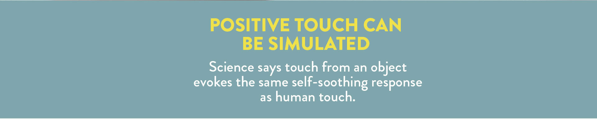 babies - positive touch can be stimulating