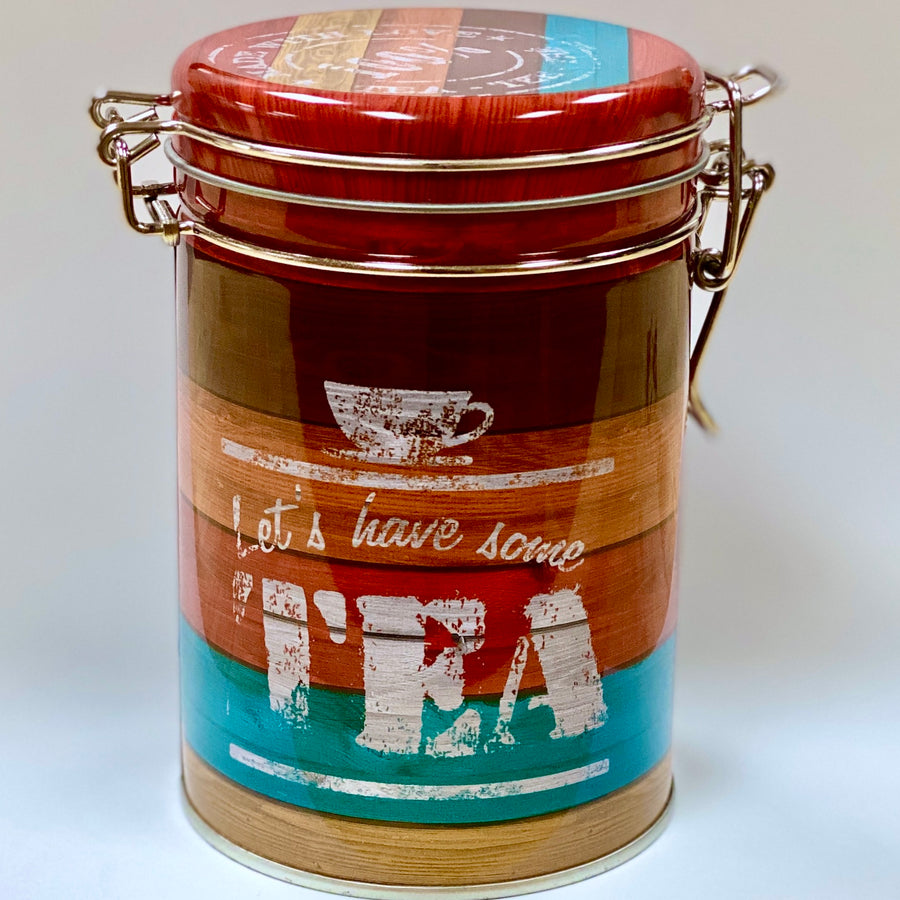 Tea Tin with Latch (Red)