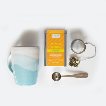 Turmeric Ginger Tea + Mug Gift Set