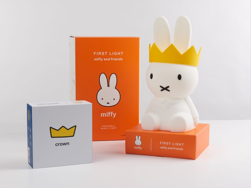 (預購-八月底到貨)Miffy Nightlight + Crown Set (For Miffy 65 Anniversary )