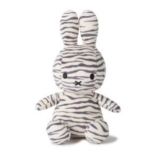 Miffy Sitting All Over Zebra Print
