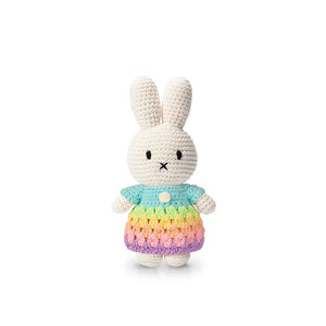 miffy handmade and her pastel rainbow dress