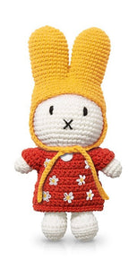 Miffy handmade & her red flower dress + yellow hat