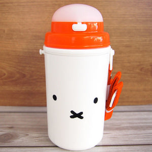 Miffy Straw Attached Cold Insulation Bottle