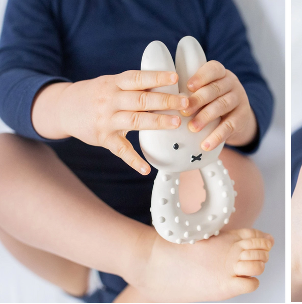 miffy biderangle Teether Boy in Nature Rubber