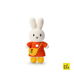 miffy handmade and her orange dress + yellow tulip bag & shoes