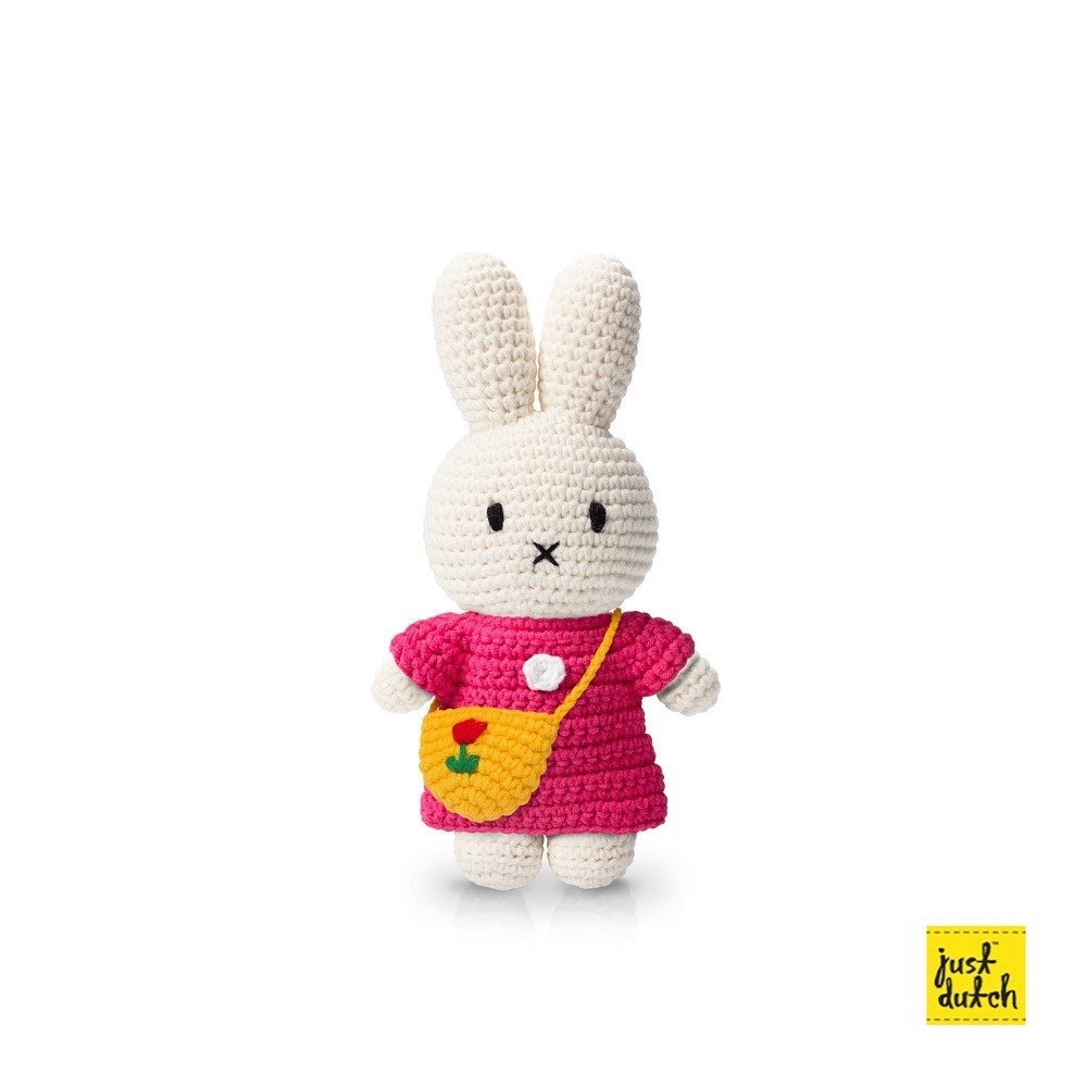 miffy handmade and her pink dress + yellow tulip bag