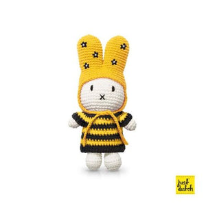 Miffy handmade and her striped bee dress + hat with flowers