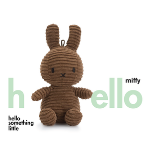 Miffy Sitting Corduroy Keychain Brown