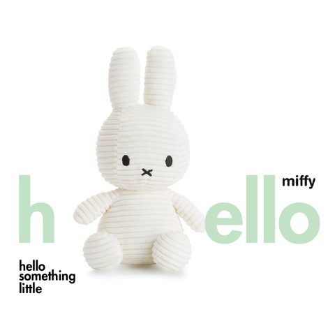 Miffy Sitting Corduroy White