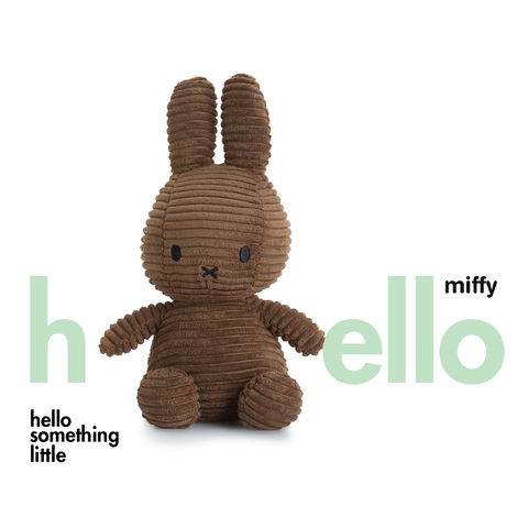 Miffy Sitting Corduroy Brown