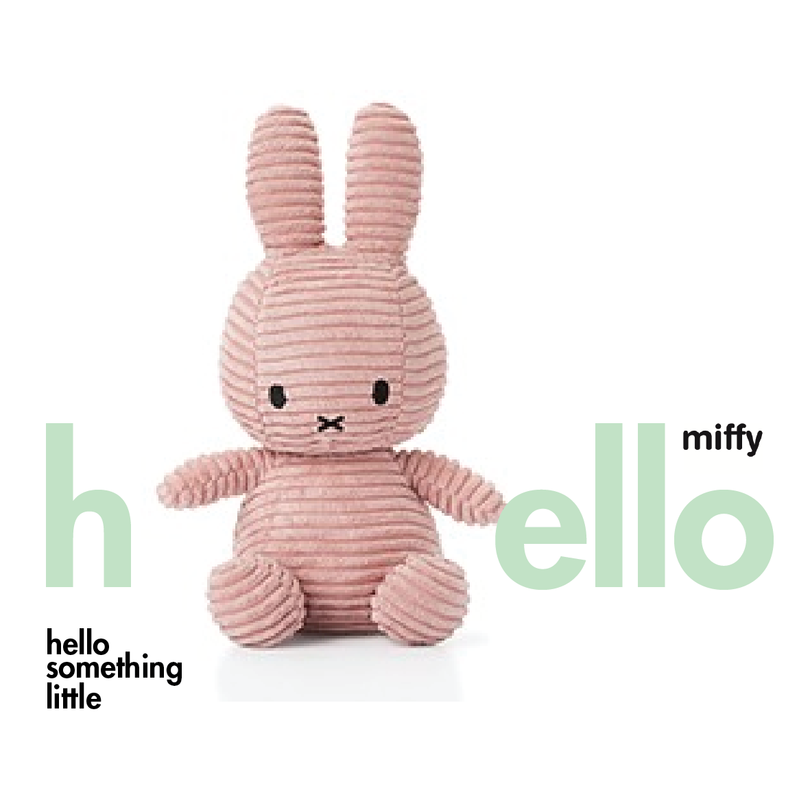 Miffy Sitting Corduroy Pink