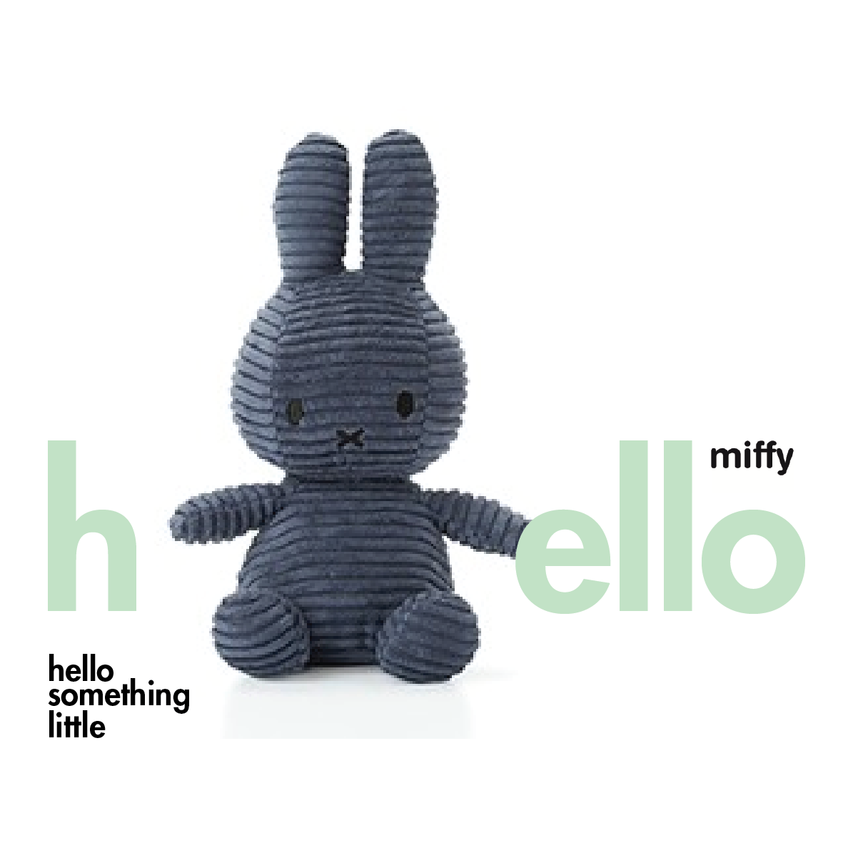 Miffy Sitting Corduroy Navy