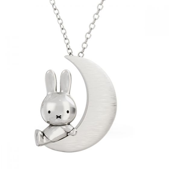 MIFFY & THE MOON STERLING SILVER PENDANT