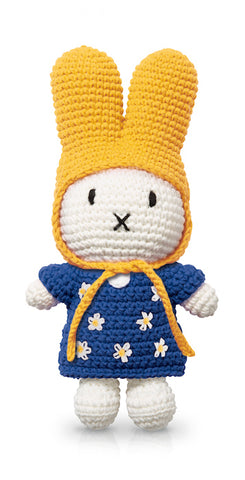 miffy handmade & her blue flower dress + yellow hat