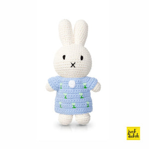 miffy handmade & her Pastel Blue Tulip dress